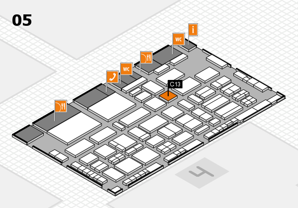 TOP HAIR - DIE MESSE 2018 hall map (Hall 5): stand C13