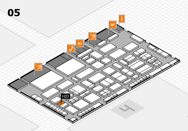 TOP HAIR - DIE MESSE 2018 hall map (Hall 5): stand H23