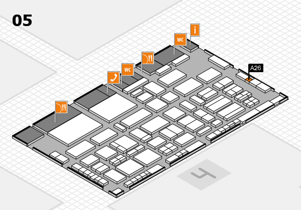 TOP HAIR - DIE MESSE 2018 hall map (Hall 5): stand A26