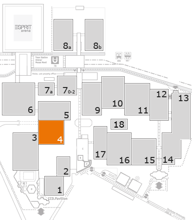 TOP HAIR - DIE MESSE 2018 fairground map: Hall 4