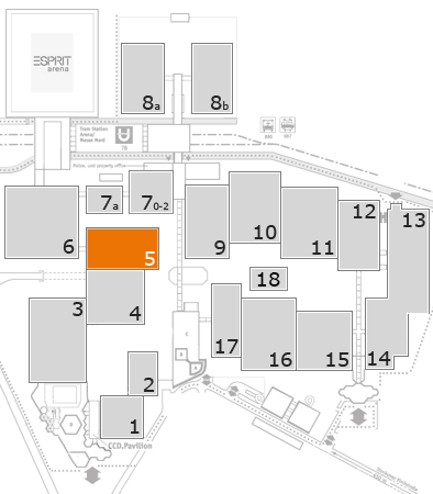 TOP HAIR - DIE MESSE 2018 fairground map: Hall 5